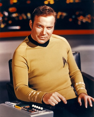 Captain Kirk, commander of the USS Confidence